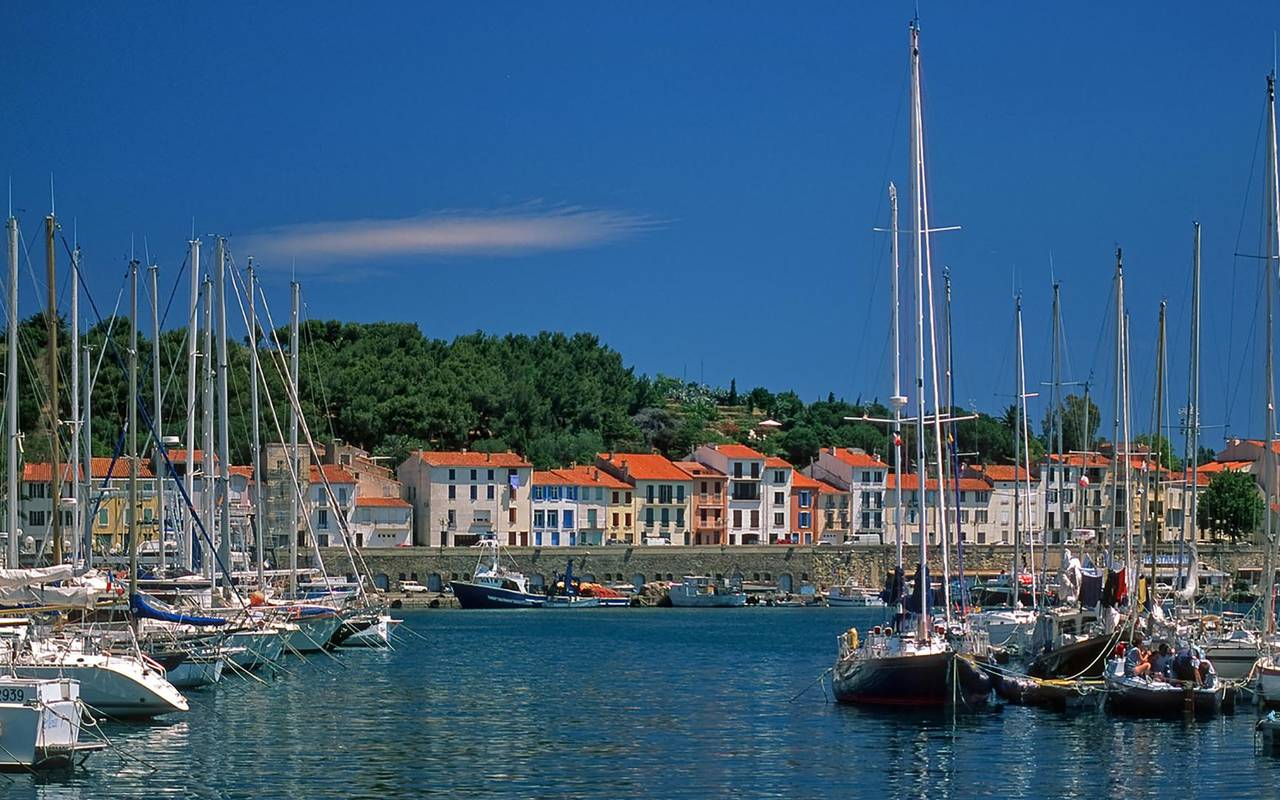 View on the harbour of Port vendres - things to do near perpignan