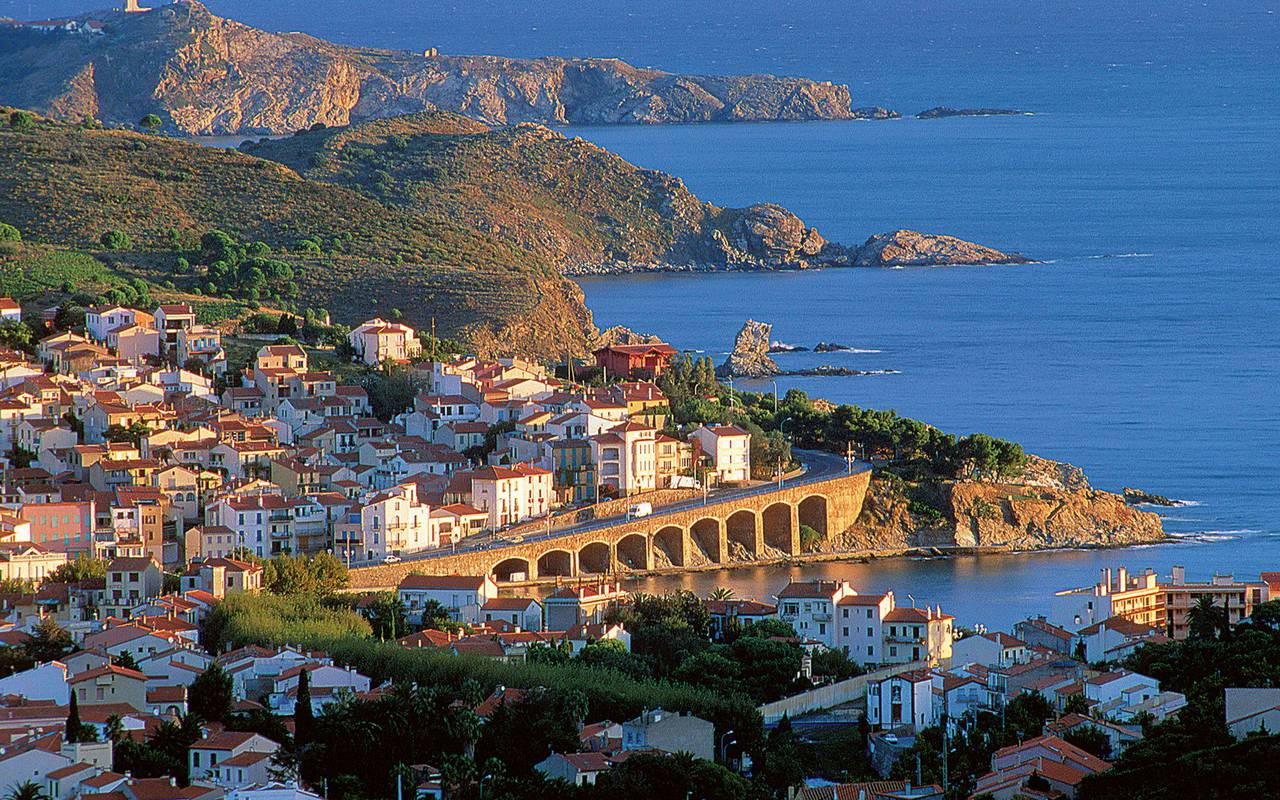 view on the city of banyuls - things to do near perpignan