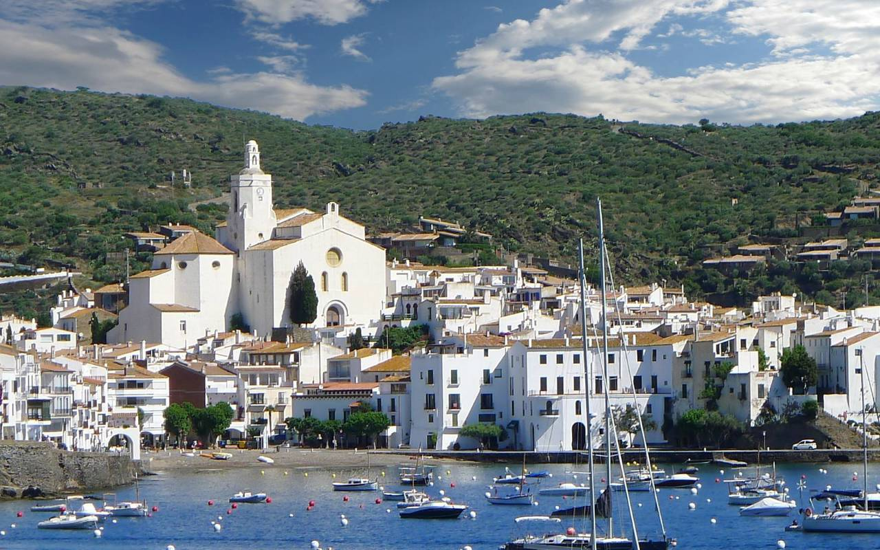 view on the city of cadaques - things to do near perpignan
