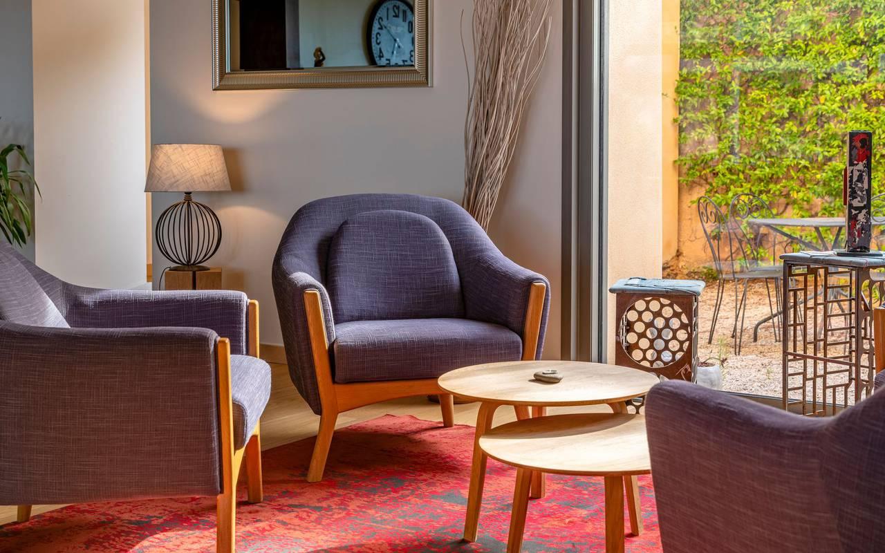 Espace salon - port vendres hotel
