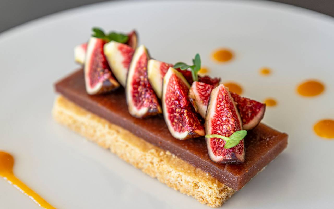tarte aux figues fraiches - hotel restaurant port vendres
