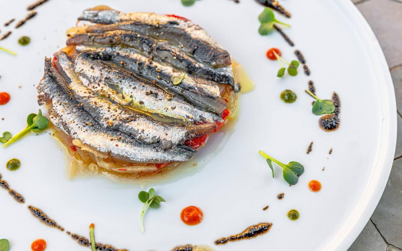 Tartelette à la sardine - restaurant port vendres